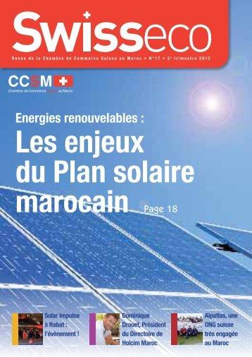 Energies renouvelables : - Chambre de commerce Suisse au Maroc
