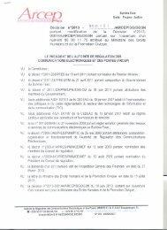 Décision n° 2013 - Autorité de régulation des communications ...