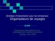 Stratégie d'implantation pour les entreprises ... - Tourisme Québec