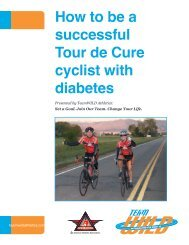 How to be a successful Tour de Cure cyclist with diabetes