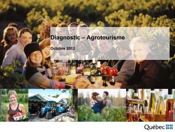 Diagnostic – Agrotourisme - Tourisme Québec