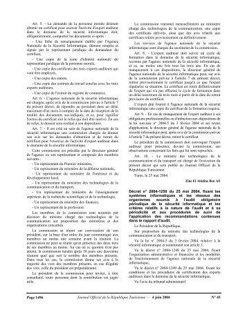 Télécharger le texte en PDF - Ministère des Technologies de l ...