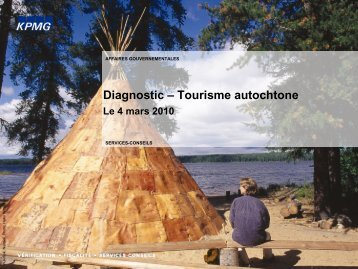 Diagnostic – Tourisme autochtone - Tourisme Québec
