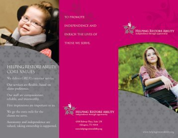 Helping Restore Ability Overview Brochure