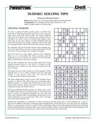 How to Solve Logic Table Puzzles - PennyDellPuzzles