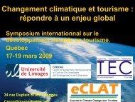 Changement climatique et tourisme : répondre à ... - Tourisme Québec