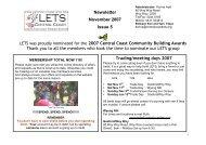 Central Coast Newsletter - Community Exchange System Australia