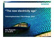 The new electricity age - Olav Rygvold, Siemens