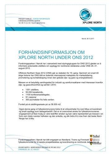 Forhåndsnotat ONS 2012