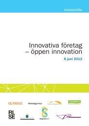 Innovativa företag – öppen innovation