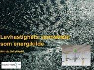 Lavhastighet vannstr?m, E.Nydal, Hydra Tidal