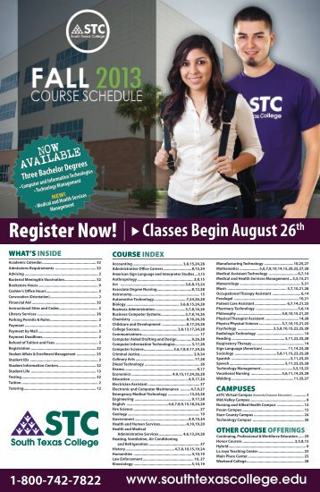Register Now! - South Texas College