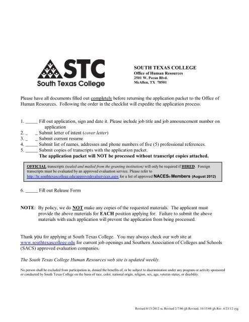 Faculty Application Cover Letter from img.yumpu.com
