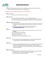 EMPLOYEE EXIT CHECKLIST - Office of Human Resources