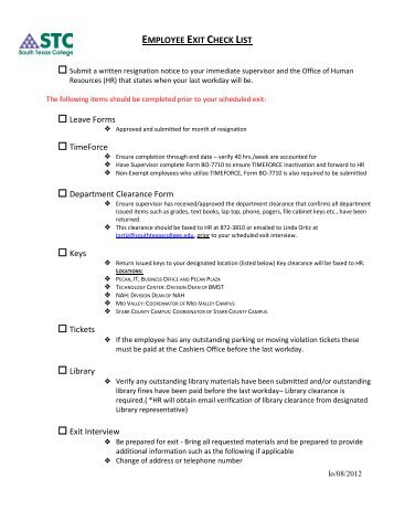 Confidential Employee Exit Interview Form Date: Name