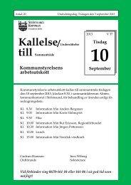 Kallelse AU130910 med bilagor.pdf - Strömsunds kommun