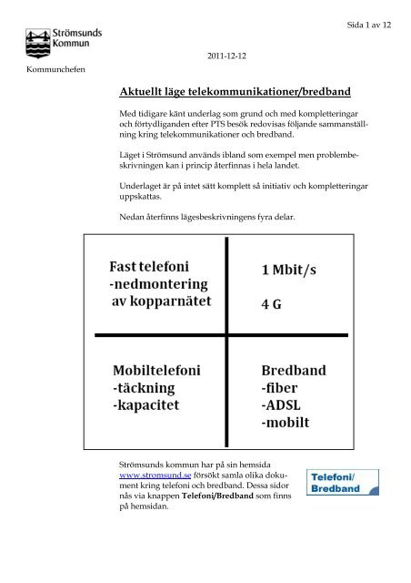 Sammanfattning telekommunikationer dec 2011.pdf - Strömsunds ...