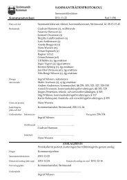 Protokoll 2011-11-22 - Strömsunds kommun