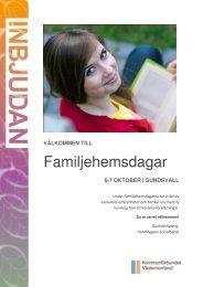 Familjehemsdagar - Kommunförbundet Västernorrland