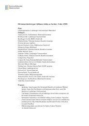 Minnesanteckningar - Kommunförbundet Västernorrland