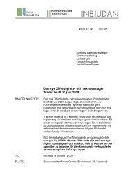 Den nya Offentlighets- och sekretesslagen Träder ikraft 30 juni 2009