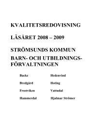 Kvalitetsredovisning Läsåret 08-09.pdf - Strömsunds kommun