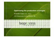 Optimising the production of biogas - Cleantech Scandinavia