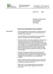 Kommunal protokollskrivning i praktiken - Kommunförbundet ...