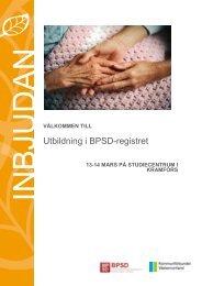 Utbildning i BPSD-registret - Kommunförbundet Västernorrland