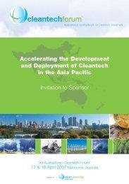 Program Overview: Sponsorship Enquiries - Clean Technology ...