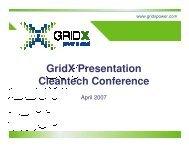 GridX Presentation Cleantech Conference - Clean Technology ...