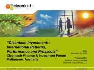 """""""Cleantech Investments: International Patterns, Performance and ..."""