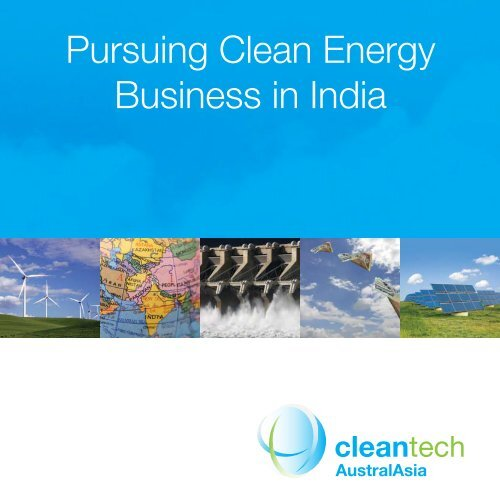 Pursuing Clean Energy Business in India - Asia-Pacific Partnership ...