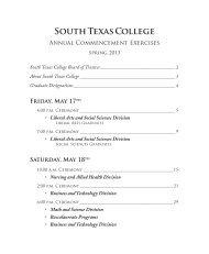 2013 Graduation Program - South Texas College