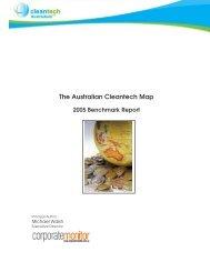 2005 Cleantech Benchmark Report - Clean Technology Australasia