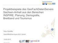 2. Anwendertag - brain-GeoCMS® - netzwerk   GIS Sachsen-Anhalt