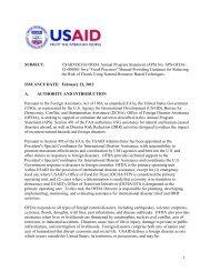 USAID/DCHA/OFDA Annual Program Statement (APS ... - Grants.gov