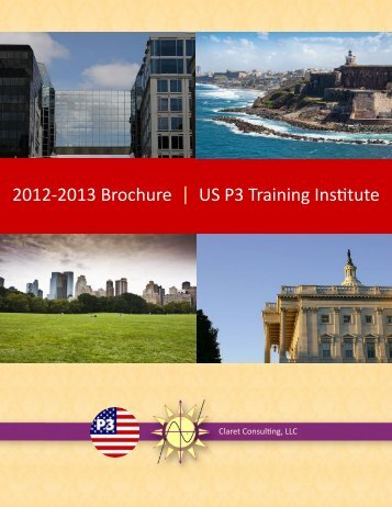 USP3 training brochure 2013.pdf - Claret Consulting