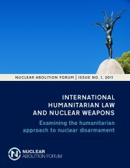 international humanitarian law and nuclear weapons - Program on ...