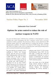 Options for arms control to reduce the role of nuclear weapons in ...