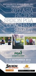 2012 asia pacific srixon pga coaching summit - Science & Motion Golf