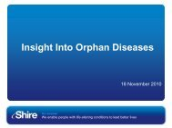 UK Insight into Orphan Diseases_Investor-18 - Shire