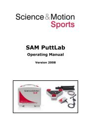 SAM PuttLab 2008 Operating Manual - Science & Motion Golf