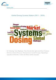Global Dosing Systems Market (2015 – 2020)