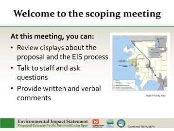 the scoping meeting - EISs for the Proposed Gateway Pacific ...