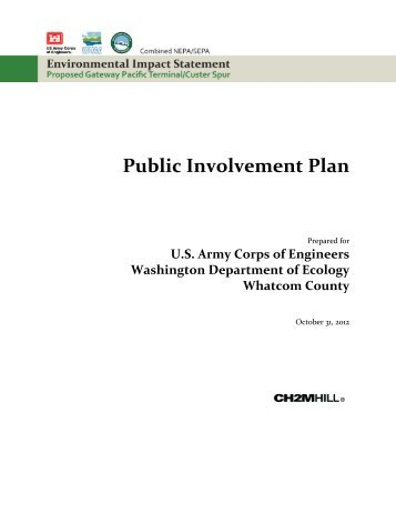 Public Involvement Plan - EISs for the Proposed Gateway Pacific ...