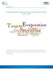 Global Sputtering Targets and Evaporation Materials Market (2014-2020)