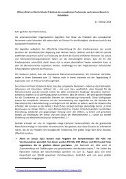 Offener Brief an Martin Schulz, Präsident des europäischen ... - Iepala