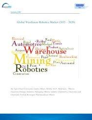 Global Warehouse Robotics Market (2015 – 2020)