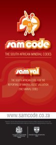 Prepared by The South African Code for the Reporting ... - SAMCODE - Page 2